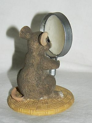 """Dean Griff Charming Tails """"I See Things Clearly Now"""" magnifying glass mouse"""