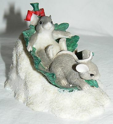 """Dean Griff Charming Tails """"Flying Leaf Saucer"""" Xmas mouse Silvestri"""
