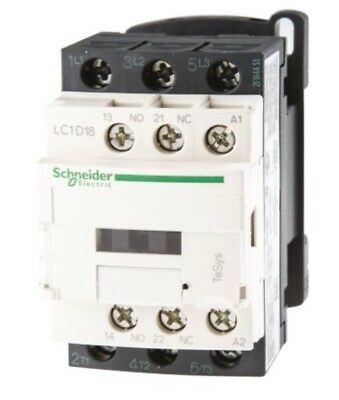 Schneider Electric Tesys D LC1D 3 Pole Contactor, 3NO, 18 A, 9 kW, 110 V ac