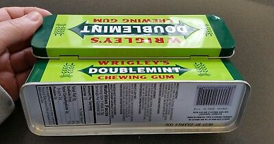Wrigley's Double Mint Chewing Gum Tin Candy Empty