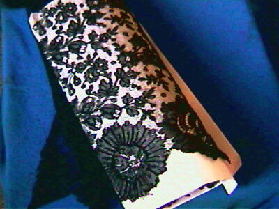 3 YDS of Antique French Black Lace-13 in deep/wide-no holes and one seam-strong