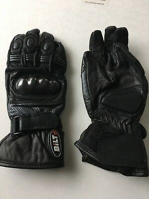 Bilt Youth USA Size 4 Leather Motorcycle Gloves