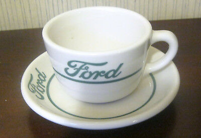 Vintage Syracuse China Restaurant Ware Ford (Automotive) Cup and Saucer