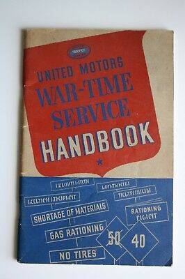 United Motors War Time Service Handbook Rare WWII Collectibles