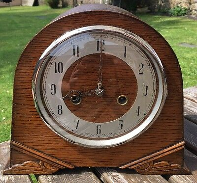 SMITHS ENFIELD CHIMING MANTLE CLOCK - No Key