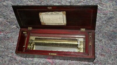 Music Box Movement Nicole Freres / Lecoultre Type With Box