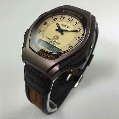 Men's Brown Casio Classic Forester Analog Digital Watch FT600WB-5BV