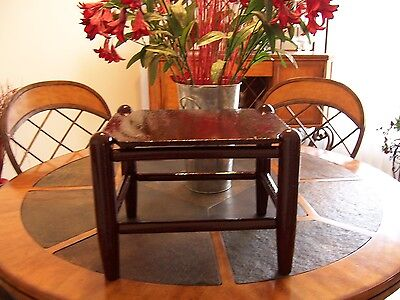 Hand Made Antique? Vintage? Primitive~Rustic~ Wooden Foot Stool~Bench~Seat