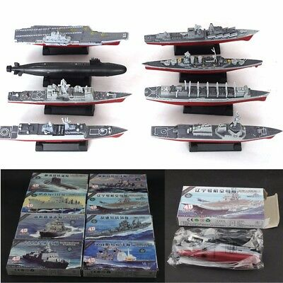8x 4D Plastic Battleship Aircraft Carrier Submarine Warship Model Assemble Kits