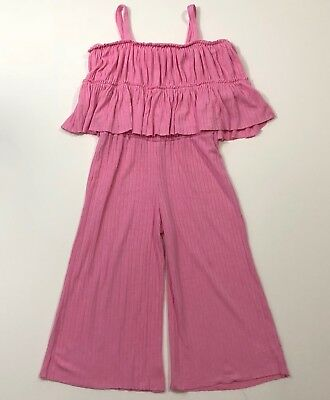 ZARA Girls Casual Collection Pink Jumpsuit Romper Outfit Size 6