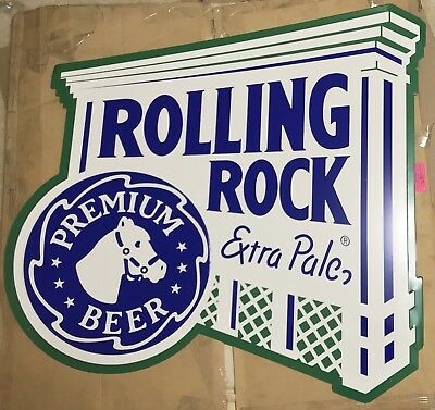 "Rolling Rock Extra Pale Ale Latrobe PA Large Metal Beer Sign 35x35"" - Brand New!"