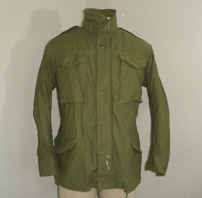 Vintage SO-SEW 70's VIETNAM Military M-65 cold weather Field Jacket Coat SMALL