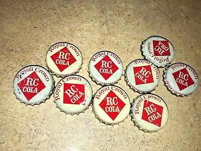 RC Cola Royal Crown Soda Bottle Caps  - used  -  Cork  Lined