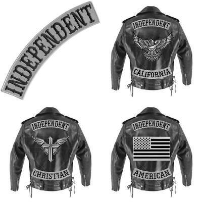 Vegasbee® Independent Patch Embroidered Iron-On Patch Biker Jacket Rider Vest D