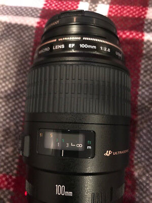 Canon Macro EF 100-100mm f/2.8 USM Lens made in Japan  f-pro