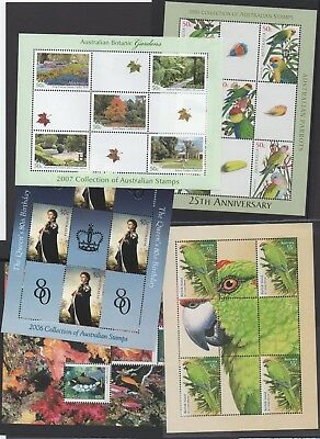 Australia minisheet x 5 from 2005 2006 2007 2009 2010 Annual Collection - MNH