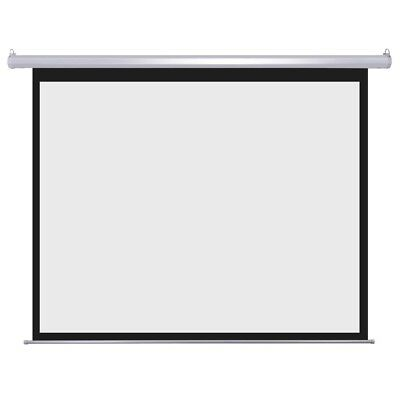 "100"" 4:3 Auto Projector Screen Electric Motorized Retractable w/ Remote Control"