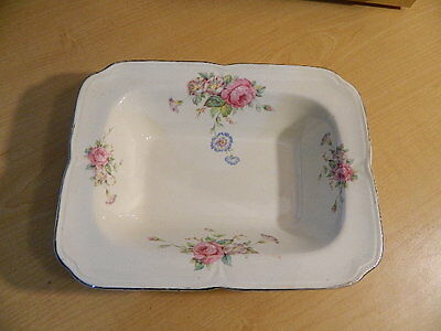 Vintage The Edwin M Knowles China Co Recatngle Serving Dish #167-E-11 Gloria