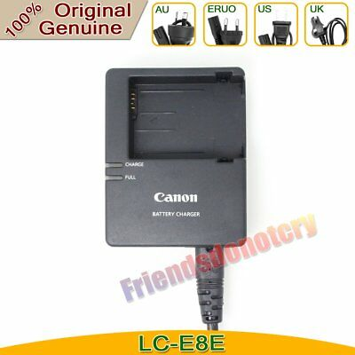 Original Canon LC-E8E Charger for LP-E8 Battery EOS 550D 650D 700D Kiss X4 X5