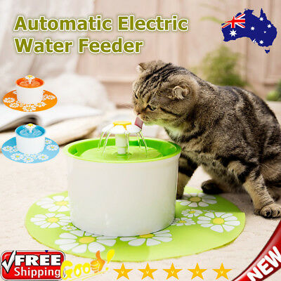 Automatic Electric Pet Water Feeder Flower Bowl Fountain Dog Cat Drink Dispenser