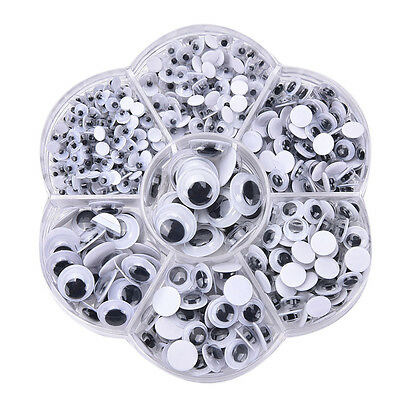 700Pcs Round Self-adhesive Wiggly Googly Eyes 4-10mm 12mm for Toys Md