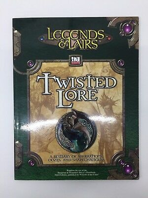 Dungeons & Dragons Legends & Lairs Twisted Lore D20 System Tsr Ffg D&d Rpg