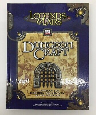 Dungeons & Dragons Legends & Lairs Dungeon Craft D20 System Tsr Ffg D&d Rpg Dd37