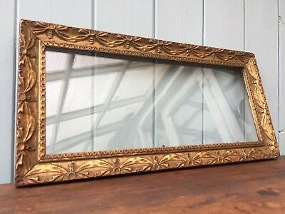 Antique Ornate Gold Gilt Frame Swags Gesso Wood Narrow Tall Long