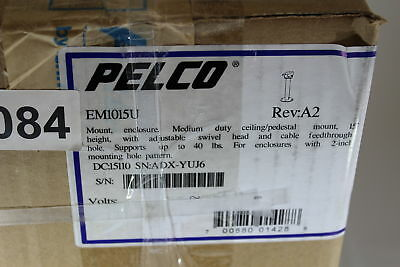 "Pelco EM1015U Enclosure Mount, Medium Duty, Ceiling Pedestal Mount, 15"" Height."