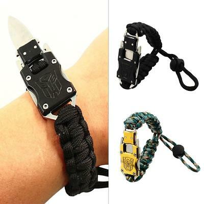 Nylon Camping Adjustable Bracelet Multi-function Self-defense Bracelet Cutter