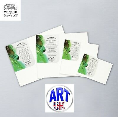 Winsor & Newton Artists STRETCHED CANVAS BOARD Oil/Acrylic Paint Colour Imperial