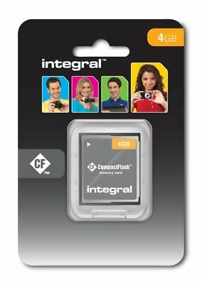 Integral 4GB Compact-Flash (CF) Memory Card for Digital SLR Cameras. INCF4GV2