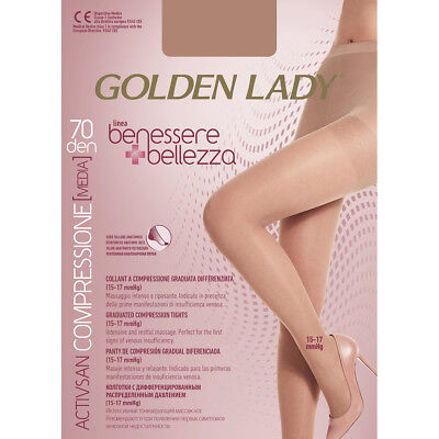 Collant Golden Lady Benessere E Bellezza 70 Den A Compressione Graduata