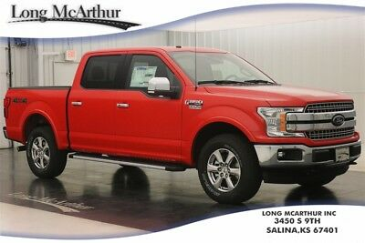 """Ford F-150 LARIAT 4X4 10 SPEED AUTOMATIC SUPER CREW CAB 4WD MSRP $55750 4WD 4 DOOR LARIAT CHROME APPEARANCE PACKAGE, 18"""" CHROME-LIKE WHEELS, RHINO LINER"""