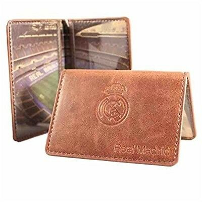 Real Madrid Card Case - Official Football Club Stadium Leather Wallet Fathers