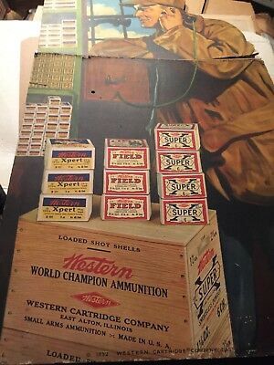 Antique 1932 Store Advertising- Display Authentic Western Cartridge Company