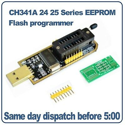 CH341A 24 25 Series EEPROM Flash BIOS USB Programmer 24C02 24C08 24C16