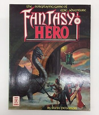 Rpg D&d Hero Games Fantasy Hero Roleplaying Game Of Adventure Rulebook Her024