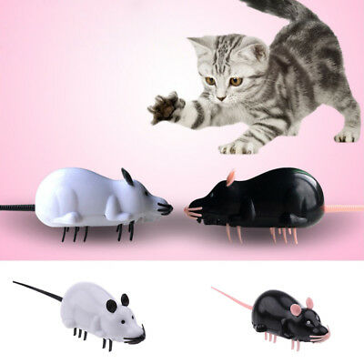 Electronic Mouse Pet Cat Toy Rat Mice Battery Powered Fun Play Playing Activity
