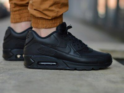 buy popular a772b 048d2 Nike Air Max 90 Leather 302519-001 Chaussures Hommes