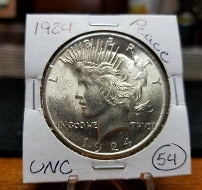1924 Peace Silver Dollar MS++++ BU (((GORGEOUS COIN))) UNC STUNNING!!!!