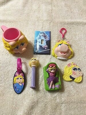 Lot of 7 Vintage Miss Piggy Collectibles  - Must See!