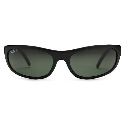Ray-Ban RB4033 Polarized Sunglasses (Matte Black/Polarized Green Classic G-15)