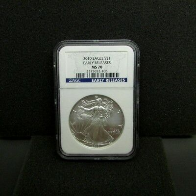 2010 Silver American Eagle NGC  MS - 70  Early Release