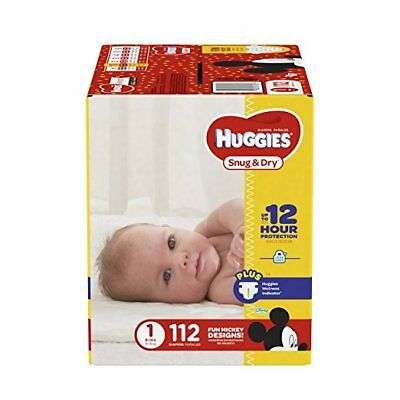 Huggies Snug & Dry Diapers Size 1 (Choose Your Count) **FREE SHIPPING**
