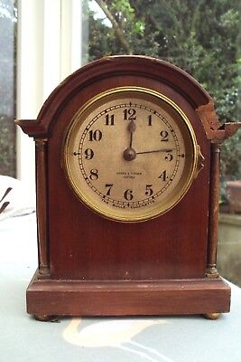 Antique Wooden Mantel Clock For Spares.