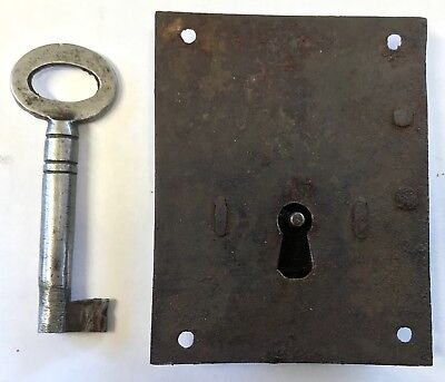 Lovely Flush Steel Antique Long Case Grandfather Clock Lock And Key Circa 1700