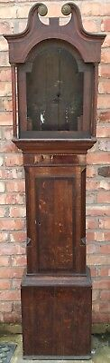 STUNNING Antique Inlaid Mahogany Grandfather Longcase Clock Case Inlay