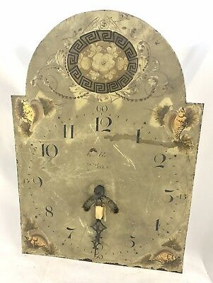 Lovely Antique Long Case Grandfather Clock Dial And Movement William Whitby Raw