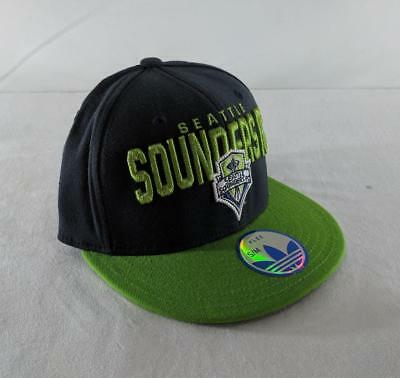 b89c70d650f LZ Adidas Size S M Fitted Seattle Sounders FC Soccer MLS Baseball Cap Hat  NEW